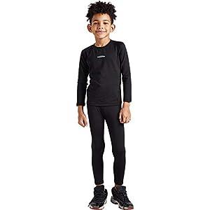 COOLOMG Kinder Thermowäsche Set Funktionswäsche Base Layer Radsport Joggen Fitness Outdoor Innenfleece Winter MEHRWEG