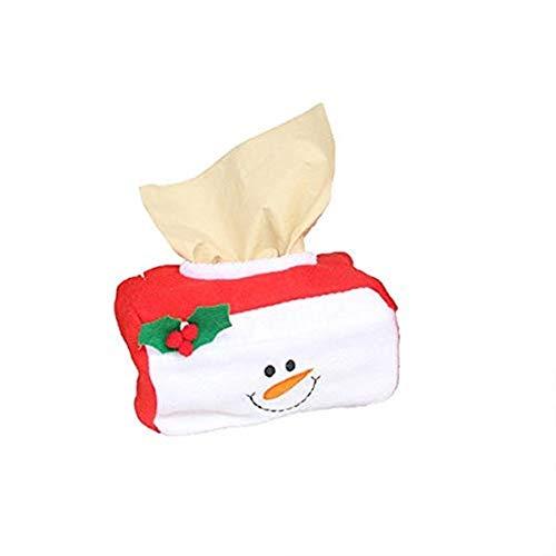 Weihnachtsmann Schneemann Applique Weihnachtsdekoration Rechteck Tissue Box Home Decor Serviettenhalter Für Papierhandtücher -