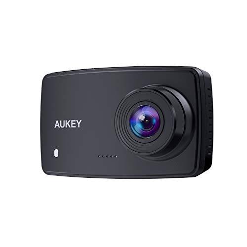 AUKEY Dashcam, Dash Cam da Auto da 1080p con Obiettivo 6-Lane, LCD da 2.7 Pollici, Sensore di Movimento, Registrazione in Loop e Visione Notturna