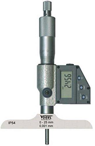 Digital-Tiefenmessschraube, IP54, mit Datenausgang RS232, 0 - 75 mm / 0 - 3 inch