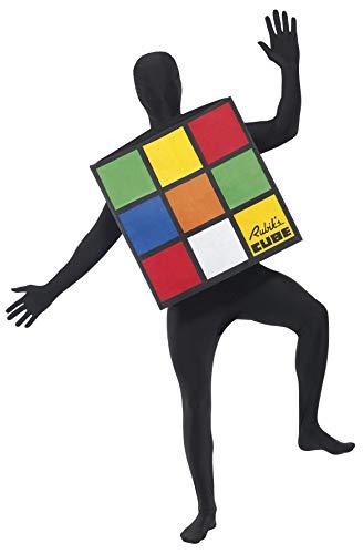 Rubik Zauberwürfel Unisex-Kostüm, One - Rubiks Cube Party Kostüm