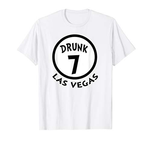 Betrunkene 7 lustige Gruppen-Hemd-Neuheits-Andenken Las Vega