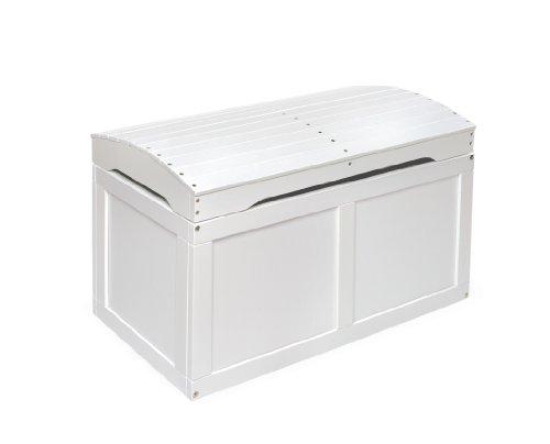 Badger Basket barril Top Toy Box blanco roto blanco Talla:blanco