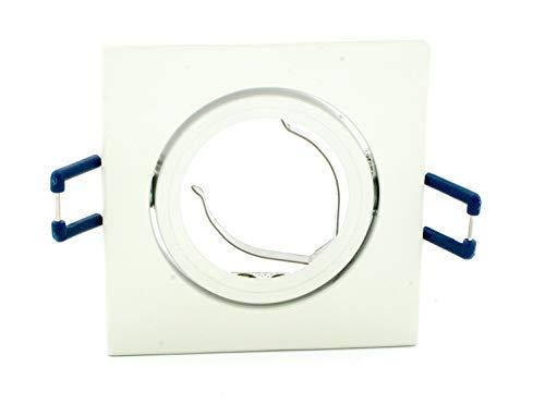 Support orientable pour spot encastrable, en aluminium blanc, 50 mm