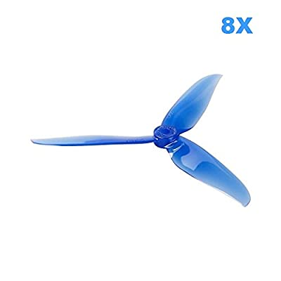 UUMART 8pcs DALPROP T6040C 6 Inch 3 Blades Propeller Tri-Blade CW CCW Propellers,Best Match for 200 210 230 250 FPV Racing Drone Quadcopter Frame Kit by Crazepony