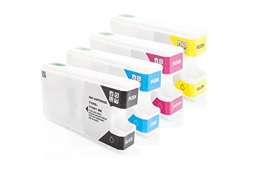 Preisvergleich Produktbild Inkadoo® Tinte passend für Epson WorkForce Pro WF-5620 DWF ersetzt Epson T7891 C13T789140 - C13T789440 - 4x Premium Drucker-Patrone Kompatibel - Schwarz, Cyan, Magenta, Gelb - 1 x 66 & 3 x 35 ml