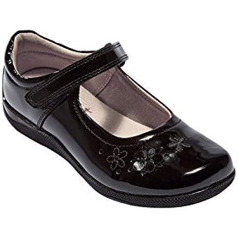 next Niñas Júnior Zapatos De Charol Con Flores Lujo Elegante (Niña Mayor)