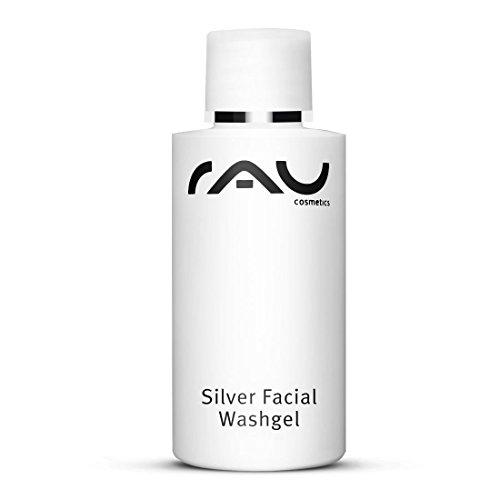 RAU Silver Facial Washgel, Gesichts-Reinigungs-Gel mit Micro-Silber & Spitzwegerich/für unreine Haut, Akne und Neurodermits (1 x 50 ml) (Sanft Schäumende Waschen)