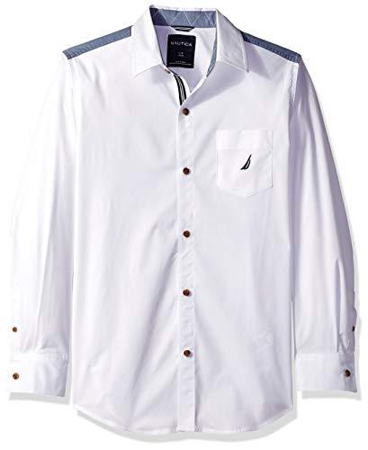 Nautica Jungen Button Down Hemd - weiß - X-Large (Hemd Nautica Weißes Jungen)