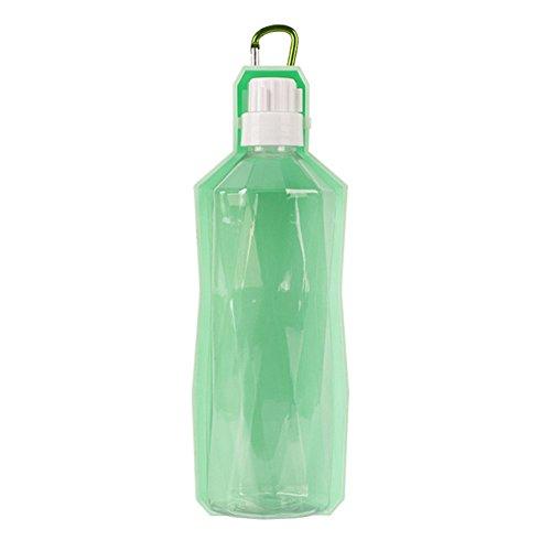 Eshall Hund Wasser Flasche, 500 ml/oz Tragbare Reise Pet Wasserspender für Hunde, Katzen - Desinfizieren Geschirrspüler
