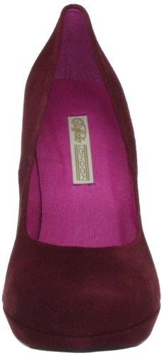 Suede London 9669-177 Kid Pumps Damen monastrell Buffalo Bl Klassische 01 134553 Rot