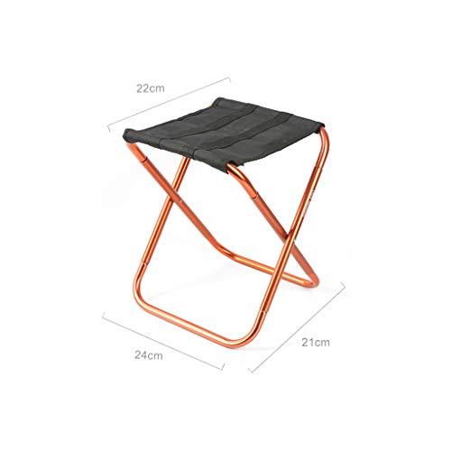 WEIFAN-Furniture Leichter Outdoor Klapphocker Aluminiumlegierung Angeln Klappstuhl Erwachsene Reise Zug Hocker Einfach In Die Handtasche Nach Falten / B4