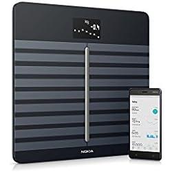 Nokia Body Cardio - Báscula Wi-Fi con composición corporal y frecuencia cardiaca, color negro