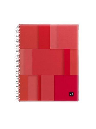 miquelrius-notebook-din-a5-100-squ-pp-lumine-red-miquelrius-47582mq