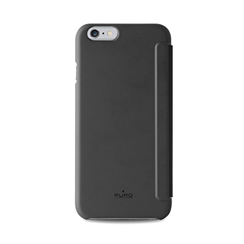 Puro IPC655SENSEBLK Booklet Case Custodia per iPhone 6 Plus, 5.5 Pollici, con Funzione Quick View e Answer Call, Nero Nero
