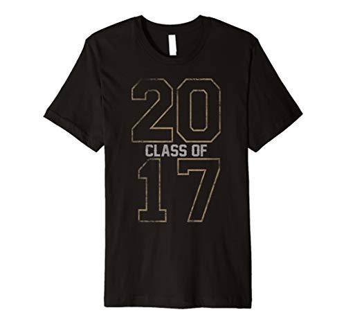Class of 2017 Shirt School Graduation Old Vintage