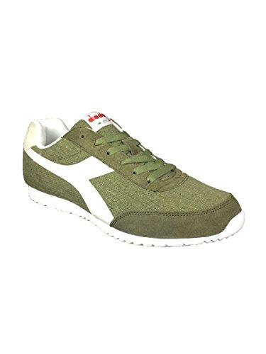 Diadora Jog Light C, Sneaker a Collo Basso Unisex – Adulto Verde/Bianco