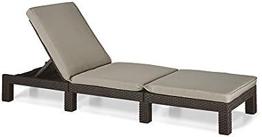 Allibert Ligstoelen Zonneligstoel. 65x195x22 cm bruin/taupe