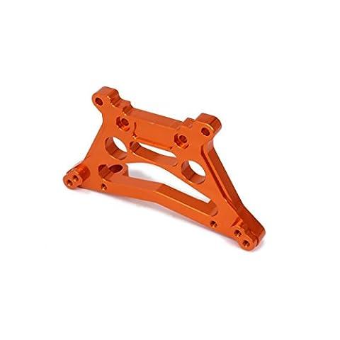 RCAWD Amortisseur de tour de choc de plaque arrière 539080 Aluminium à usinage usiné pour Rc Hobby Model Car 1/10 FS Racing Buggy de camion 53810 Pièces de soulèvement améliorées 1Pcs(Orange)
