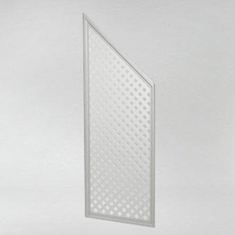 Sichtschutz-Abschlusselement Oberfläche dreifach lackiert