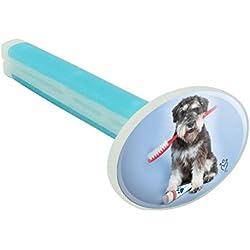 GRAPHICS & MORE Lufterfrischer Schnauzer Welpe Hund mit Zahnbürste Zahnarzt Auto Lufterfrischer Leinen Duft