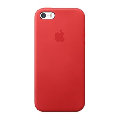 Foto de Apple Leather Case for iPhone SE/5 red, MF046LL_A (red)