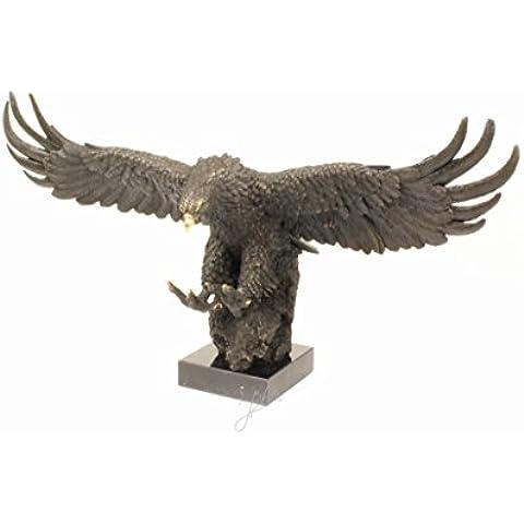 Scultura in bronzo aquila statuetta absteigend - Aquila Scultura In Bronzo