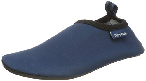 Playshoes Unisex-Kinder Badeslipper, Badeschuhe Uni Aqua Schuhe, Blau (Marine), 22/23 EU