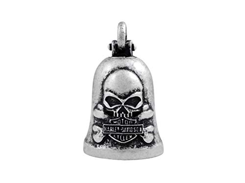 Harley-Davidson Bikerglocke Silver Skull