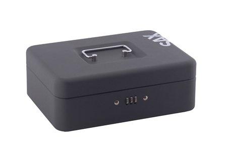 Sax 0-812-19 Geldkassette, B 25 x H 9 x T 18 cm, schwarz