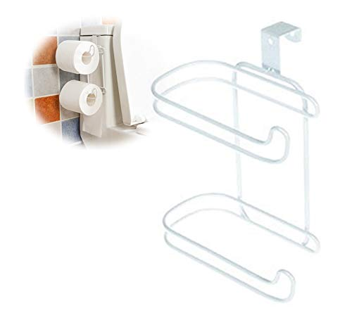 Messing Toilettenpapier Halter (Jinxuny 2 Schichten Toilettenpapierrollen Haken Regal Badezimmer Küche Schranktür Handtuch Gewebe Hängen Rack Halter)