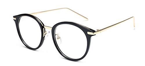 JIUPO Brille Ohne Sehstärke mit Nasenpad Retro Vintage 50er Metall+PC Brillenfassung Herren/Damen
