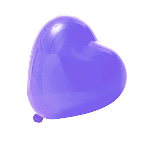 uftballons Liebe Herz Luftballons Herzballons Ballons Deko für Valentinstag, Verlobung, Hochzeit, Lila (Ballon-lila)