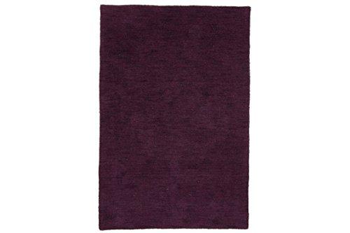 Carpetfine: Alfombra Gabbeh Loom - 111x172 cm - Morado - Handloom - India - Rectangular