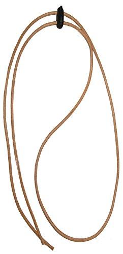 Black Jungle Leder Kinnriemen Hutfangband Fangband für Hut Lederriemen hellbraun - Kinnband Hut
