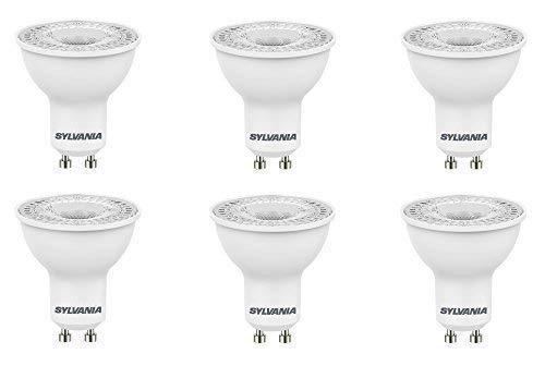 6 x Sylvania RefLED ES50 V4 5W GU10 LED nicht dimmbar Glühbirne Lampe 840 tageslichtweiß (Glühbirne Sylvania)