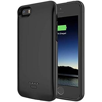 iFans Coque Chargeur Batterie Protection Haute Capacité iPhone 5s/5/SE, Certifiée MFi Apple 2400