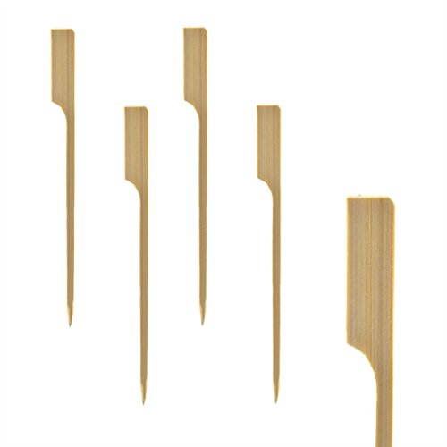 GEORGES Fingerfood Spieße, Partyspieße, Grillspieße, Holzspieße Bambus (250 Stück) (Natur)