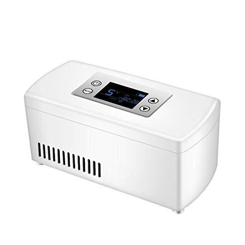 Refrigerador portátil de insulina, Caja refrigerada, Mini refrigerador para medicamentos pequeños (Blanco)...