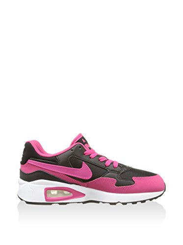 Chaussures De Sport Nike Air Max St (gs), Fille Noir / Rose / Blanc (noir / Rose Vif-blanc)