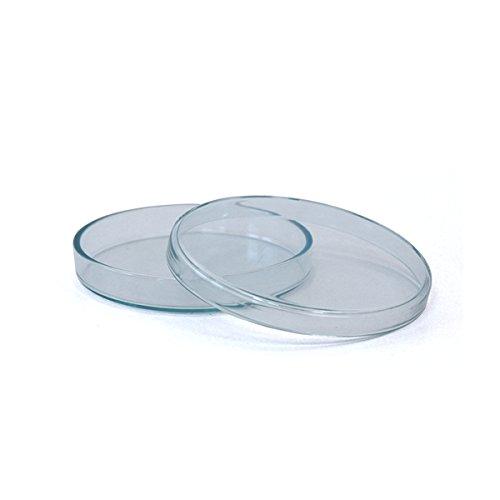 3 x Petrischale 100x10mm aus Kalk-Soda-Glas ohne Nocken - bis 135°C im Autoklaven sterilisierbar - Petrischalen, Kulturschale, Agar Agar Schale, Zellkulturschale, Kulturschalen, Agar Agar Schalen, Zellkulturschalen