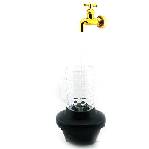Eletam Neuheit Multi Color Magic Tap-Nachtlicht-Wasser-Hahn-Hahn-Lampe LED-Schalen-Licht Deko Licht - Hahn Neuheit