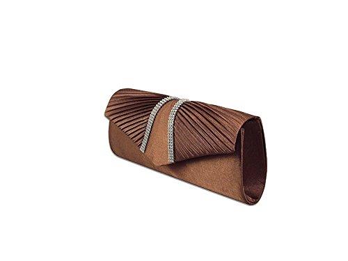 XPGG ottima idea regalo, da donna, per abiti da sera Party Bag-Borsa a spalla Nero (marrone)