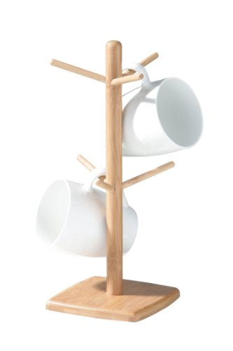 Premier Housewares Arbre à mugs 6 tasses Bambou 15 x 15 x 33 cm