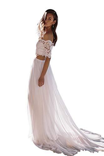 Hochzeitskleid zweiteilig mit Spitze bauchfrau