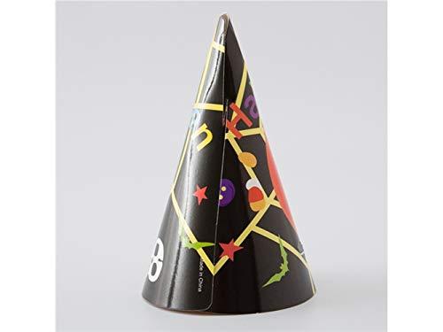 Jxucto dieci pezzi/set cappello di carta zucca cappello a punta di gatto per halloween pasqua accessori costume di natale (3)
