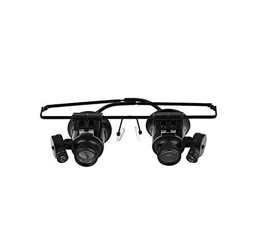 Gwill 1 STÜCKE 20x Lupe LED Licht Objektiv Lupe Stirnband Brillen Lupe, Juwelier Uhr Reparatur Wimpern Extensions Werkzeug 9892A-II