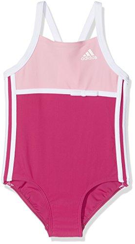 Adidas Inf 3S 1kg–Badeanzug 1Stück für Kinder, INF 3S 1PC KG, Rosa / Blanco (Rosfue / Blanco)