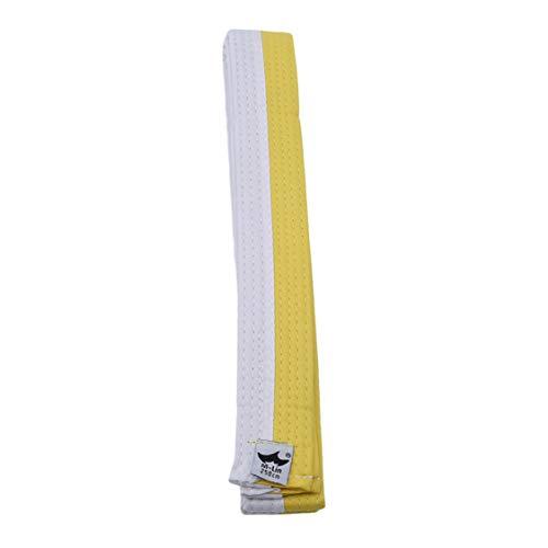 Idiytip Professioneller Taekwondo Gürtel Karate Judo Double Wrap Kampfkunst Streifen Sport Gürtel, Weiß Gelb Gürtel 250 Cm -