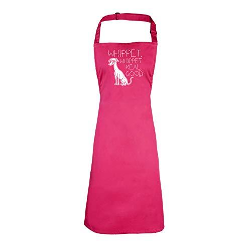 123t Funny - Whippet Whippet Whippet Real Good - Kinder Küche Koch Schürze, rose, Junioren - Junioren Rose